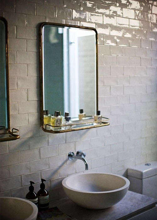 Modern White Wall Shelf Design Sleuth: 5 Bathroom Mirrors With Shelves: Remodelista