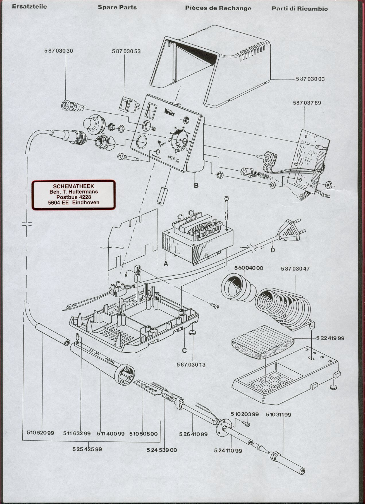 wiring diagram for weller soldering iron