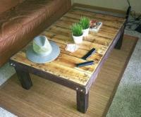 How To Make a Coffee Table out of a Wooden Pallet - Easy ...