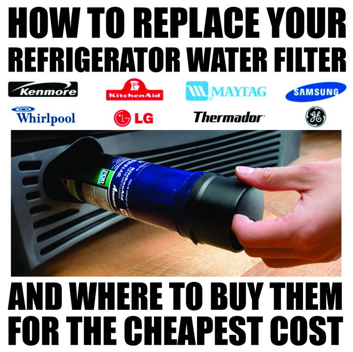 How To Replace The Water Filter On Your Refrigerator - Old And New