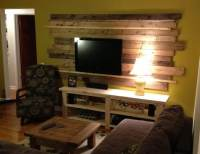 Living Room Remodel Wooden Backsplash Makeover On A Budget ...