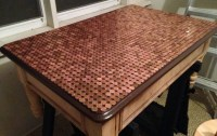 How To Make A Penny Top Coffee Table DIY ...