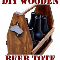 How To Build A DIY Wooden Beer Tote Caddy