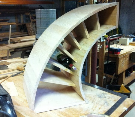 How To Build A Custom Curved Wooden Wine Rack
