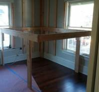 DIY Elevated Kids Bed Frame With Storage Area ...
