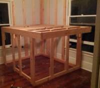 DIY Elevated Kids Bed Frame With Storage Area - us2