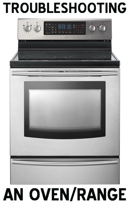 Oven Range Makes Clicking Sound, Power Flickers, Does Not Heat