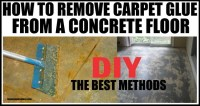 How To Remove Carpet Glue From Concrete Flooring ...