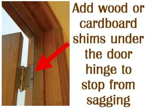 How To Fix A Door That Is Sagging Or Hitting The Door Frame