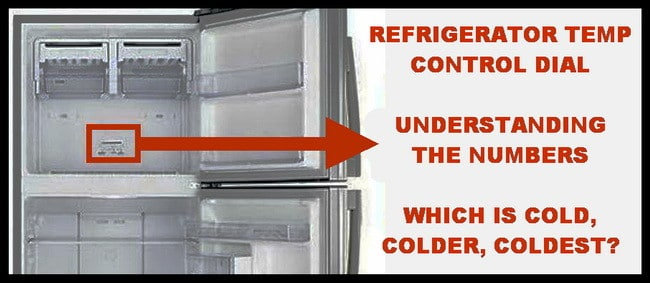Refrigerator Temperature Control Dial - What Do The Numbers Relate
