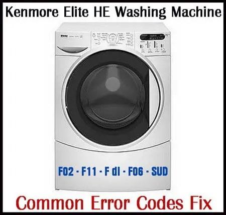 Kenmore Elite HE3 Washing Machine Error Codes Fix