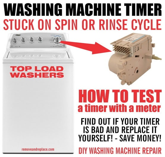 Washing Machine Timer Stops During Cycle - How To Test Washer Timer