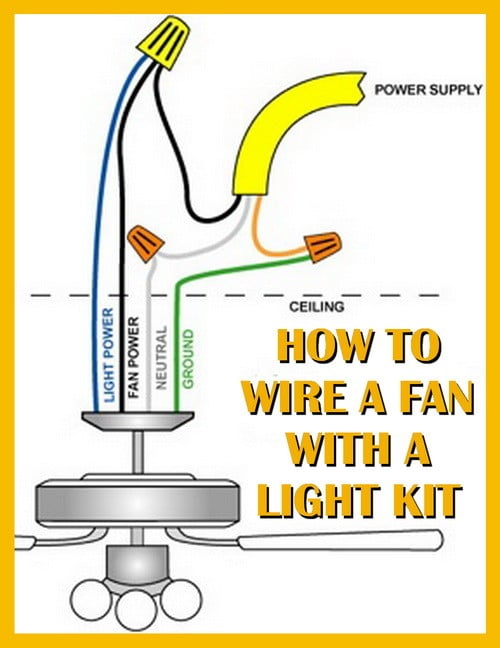 wiring diagram for ceiling fan with light kit