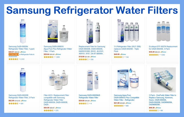 Samsung Refrigerator Water Filters - How Often Should I Replace My