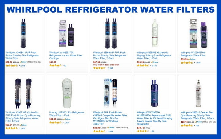 Whirlpool Refrigerator Water Filters \u2013 How Often Should I Replace