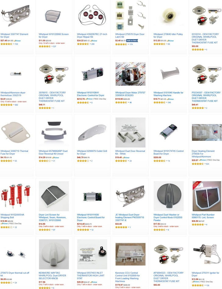 whirlpool duet dryer parts - Ecosia