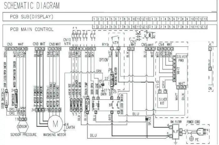 washing machine schematics