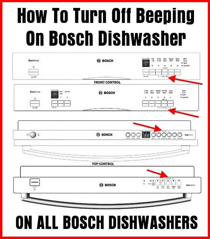 Bosch Dishwasher Beeping - How To Turn Off Alarm Sound?