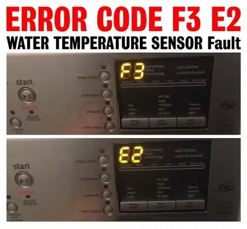 Maytag Washer Displays Error Code F3 E2 - WATER TEMPERATURE SENSOR Fault