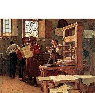 Johannes Gutenberg inventó la imprenta a principios del siglo XV