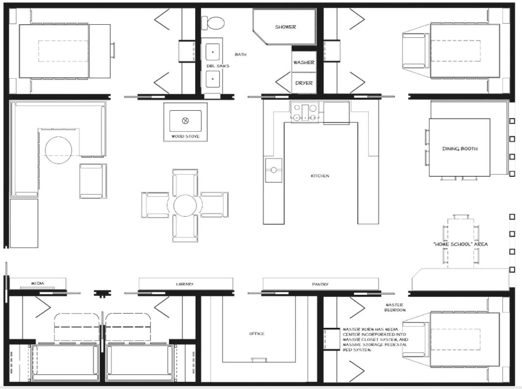 Container Haus Plan Container Floor Plan Shipping Container Homes Pinterest