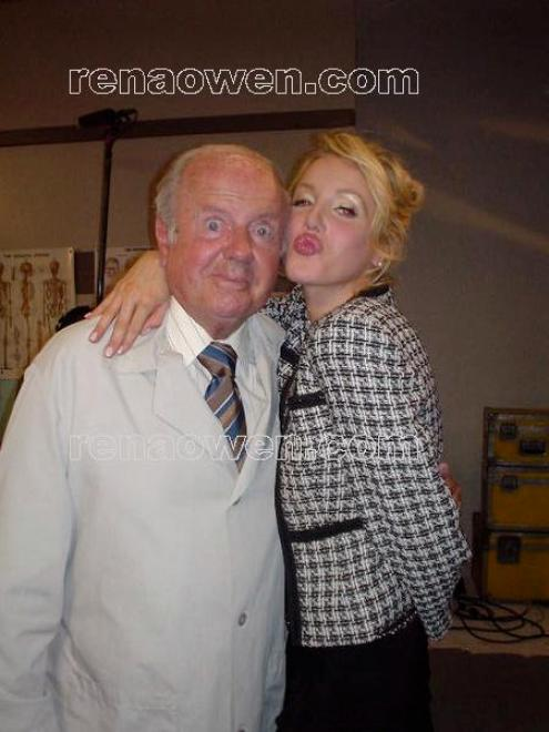 Dick Van Patten with Amanda Swisen