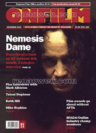 Onfilm magazine cover, November 2003
