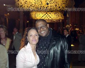 Rena and Forest Whitaker at National Geographic All Roads Film Project launch, March 11, 2004