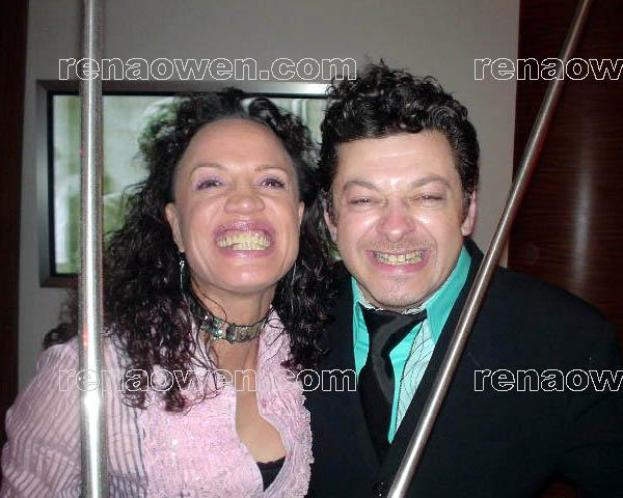 Rena and Lord of the Rings actor Andy Serkis (Gollum)