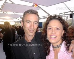 Rena and Lord of the Rings actor Jed Brophy (Sharku-Snaga)
