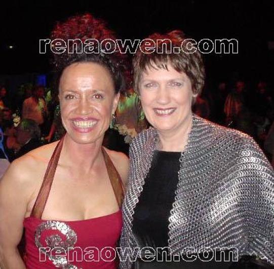 Rena and New Zealand President Helen Clark