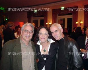 Rena with Once Were Warriors director Lee Tamahori (right) and producer Lloyd Phillips (left)