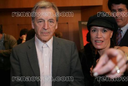 Rena with Oscar winning French Filmmaker, Costa Gavras (Z) at his DGA Screening