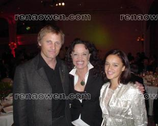 Rena with Viggo Mortensen (Lord of the Rings) and Keisha Castle-Hughes (Whale Rider)