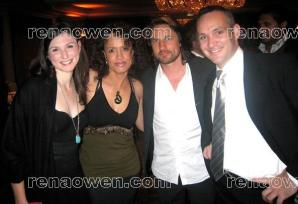 Rena with actors Florence Hartigan and Martin Henderson and director Luke Mayes