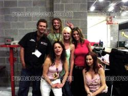 Rena with the Jensen brothers, Michonne, Amy and Shannon