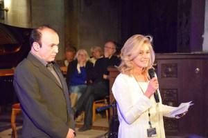 Marc Zuili (Directeur artistique) et Cécile Grange (Présidente de l'association les musicales de Clermont)