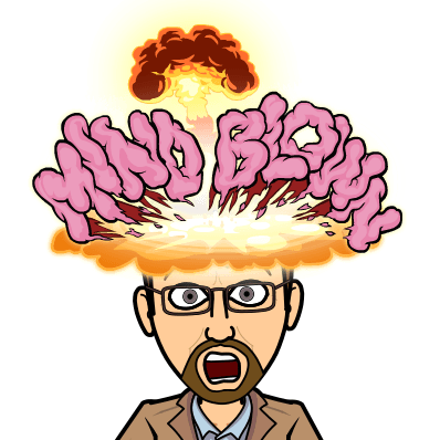 Bitmoji with the words Mind Blown