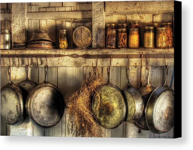 Iphone X Frame Wallpaper Utensils Old Country Kitchen Canvas Print Canvas Art