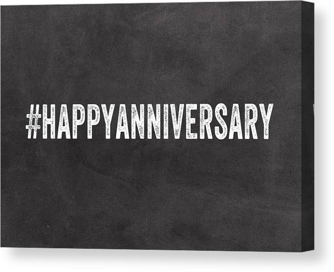 Happy Anniversary- Greeting Card Canvas Print / Canvas Art by Linda