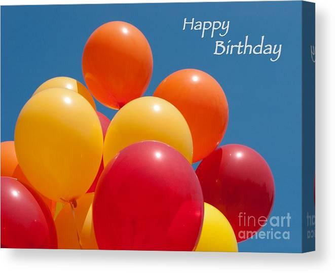Happy Birthday Balloons Canvas Print / Canvas Art by Ann Horn