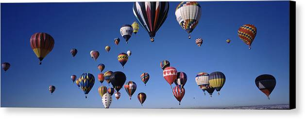 Hot Air Balloons Floating In Sky Canvas Print / Canvas Art by
