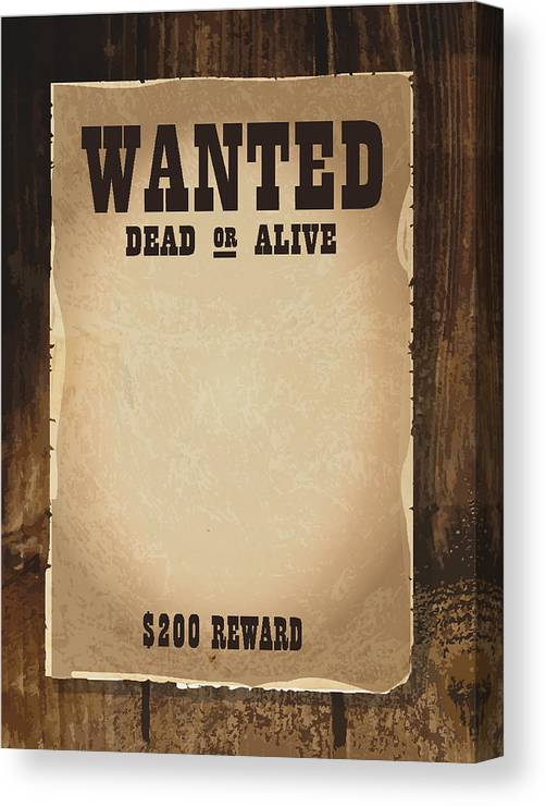 Vector Antique \u0027wanted\u0027 Poster Design Template With Copy Space