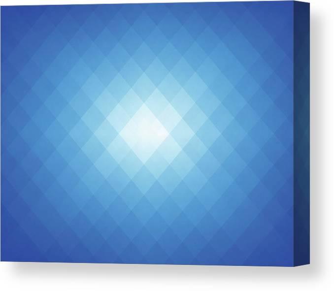 Simple Blue Pixels Background Canvas Print / Canvas Art by Simon2579