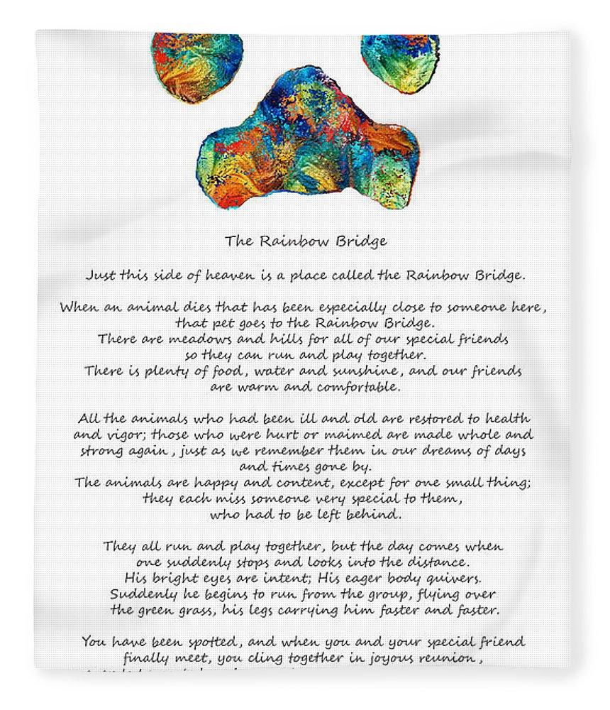 photo relating to Rainbow Bridge Pet Poem Printable titled Amazing Rainbow Bridge Rainbow Puppy Therapeutic Rainbow