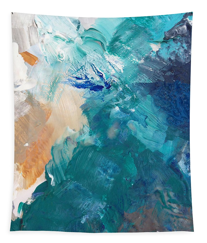 Contemporary Abstract Painting On A Summer Breeze Contemporary Abstract Art Tapestry
