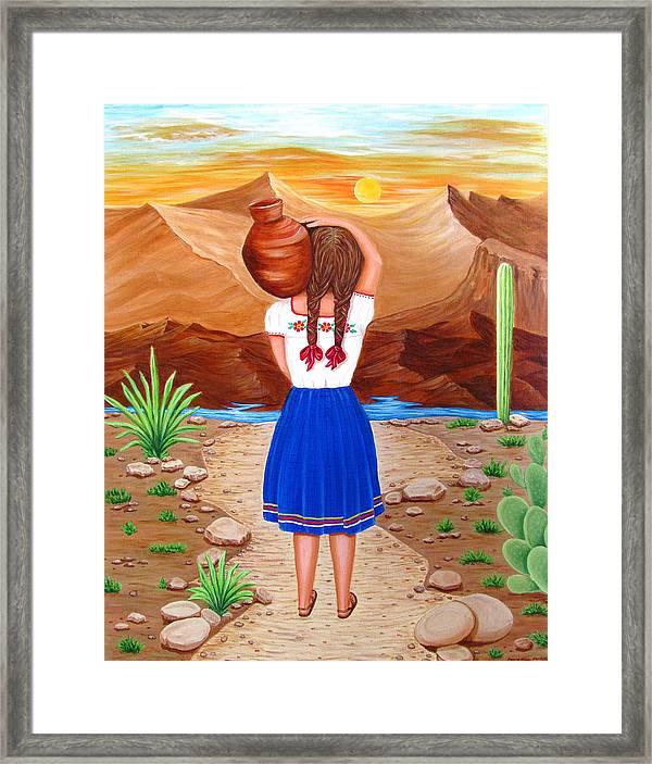 El Cantaro Framed Print by Evangelina Portillo