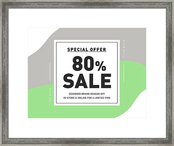 80 Off Discount Special Offer Campaign Creative Design Template