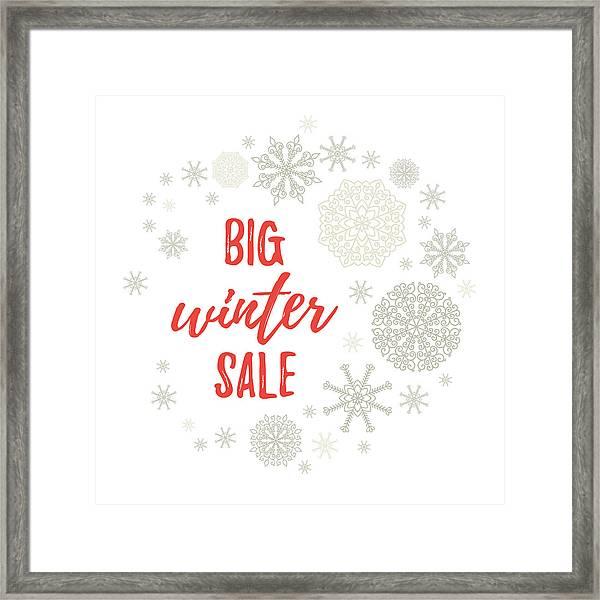 Big Winter Sale Label, Banner, Sticker Vector Winter Holidays
