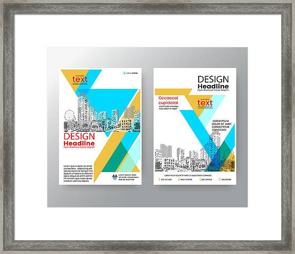 Business Templates Creative Design  Abstract Blue  Yellow Diagonal